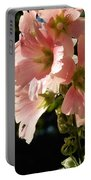 Hollyhocks 1 2017 Portable Battery Charger
