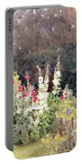 Hollyhocks Portable Battery Charger