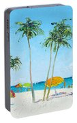Hollywood Beach Florida And Coconut Palms Portable Battery Charger