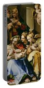 Holy Family With Saint Anne Catherine Of Alexandria And Mary Magdalene Portable Battery Charger