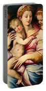 Holy Family With Saint John The Baptist Portable Battery Charger