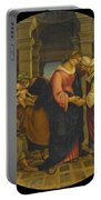 Holy Family With Saints John Elisabeth And Zacharias Portable Battery Charger