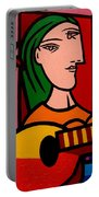 Homage To Picasso Portable Battery Charger by John  Nolan