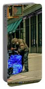 Homeless In Nyc Portable Battery Charger