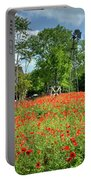Homestead In The Poppies Portable Battery Charger