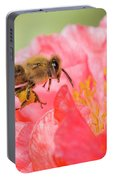 Honey Bee In Flight Portable Battery Charger
