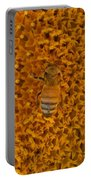 Honey Bee On Sunflower Portable Battery Charger