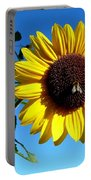 Honeybee On A Sunflower Portable Battery Charger