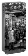 Hong Kong Foodmarket In Black And White, China Portable Battery Charger