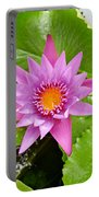 Honolulu Water Lily Portable Battery Charger