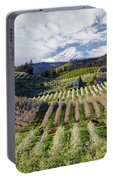 Hood River Pear Orchards On A Cloudy Day Portable Battery Charger