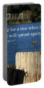 Hope For A Tree Portable Battery Charger by James Eddy