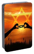 Hope - Painted Portable Battery Charger