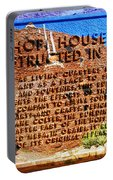 Hopi House And Dedication Plaque Portable Battery Charger