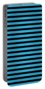 Horizontal Black Inside Stripes 18-p0169 Portable Battery Charger
