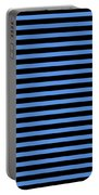 Horizontal Black Outside Stripes 18-p0169 Portable Battery Charger