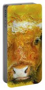 Horned Cow Painting Portable Battery Charger