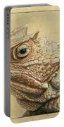 Horned Toad Portable Battery Charger by James W Johnson