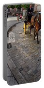 Horse And Carriage On Cobblestoned Alvarez Quintero Street In Th Portable Battery Charger