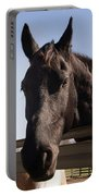 Horse By A Fence. Portable Battery Charger