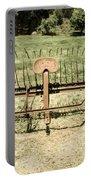 Horse Drawn Hay Rake Aged Portable Battery Charger
