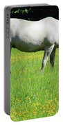 Horse In A Field Of Flowers Portable Battery Charger