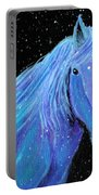 Horse-midnight Snow Portable Battery Charger