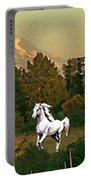 Horse Mountain And Barn Portable Battery Charger
