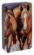 Horse Oil Painting Portable Battery Charger