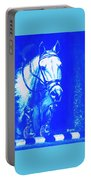 Horse Painting Jumper No Faults Aquamarine Portable Battery Charger