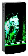 Horse Painting Jumper No Faults Black Blue And Green Portable Battery Charger