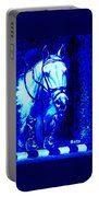 Horse Painting Jumper No Faults Blue Portable Battery Charger