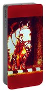 Horse Painting Jumper No Faults Deep Blues And Reds Portable Battery Charger