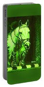 Horse Painting Jumper No Faults Deep Greens Portable Battery Charger