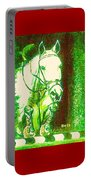 Horse Painting Jumper No Faults Green With Reds Portable Battery Charger