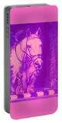 Horse Painting Jumper No Faults Hot Pink Portable Battery Charger