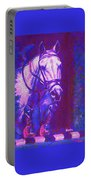 Horse Painting Jumper No Faults Purple And Blue Portable Battery Charger