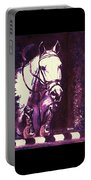 Horse Painting Jumper No Faults Purple Portable Battery Charger