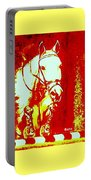 Horse Painting Jumper No Faults Red And White Portable Battery Charger