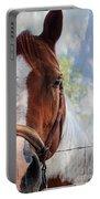 Horse Portrait Closeup Portable Battery Charger