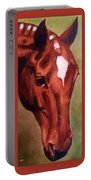 Horse Portrait Horse Head Red Close Up Portable Battery Charger