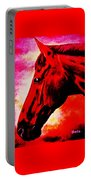 horse portrait PRINCETON red hot Portable Battery Charger