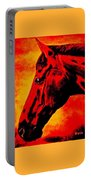 horse portrait PRINCETON sunset Portable Battery Charger