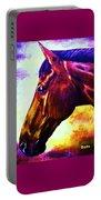 horse portrait PRINCETON wow purples Portable Battery Charger
