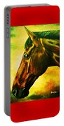 horse portrait PRINCETON yellow Portable Battery Charger