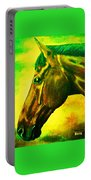 horse portrait PRINCETON yellow green Portable Battery Charger
