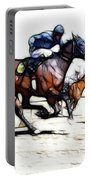 Horse Racing Dreams 1 Portable Battery Charger