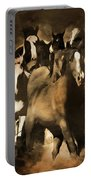 Horse Stampede Art 08a Portable Battery Charger
