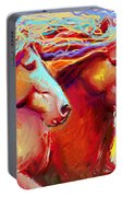 Horse Stampede Painting Portable Battery Charger