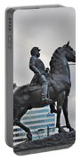 Horseman Between Sky Scrapers Portable Battery Charger by Bill Cannon